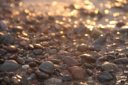 small stones: small stones beside the sea