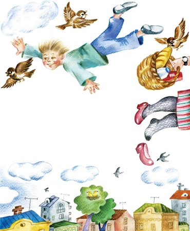 could: If I could fly  Represents child s dream of flying for joy as a bird  Useful for children s cards