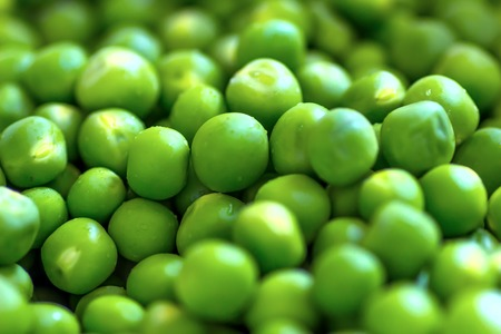 green pea beads isolated and nutritious green and fresh
