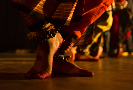 dance form indian classical feet with ghungru