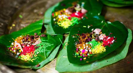 banarasi pan, betel nut garnished with all indian banarasi ingredients for sale