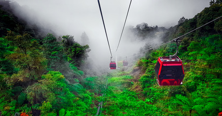 the ropeway cable car at Genting highlands, Malaysia