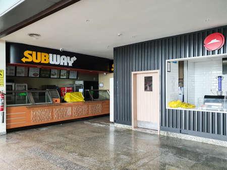 6th June 2020- Netaji Subhas Chandra Bose International Airport, Calcutta, India-branded fast food shops remain closed during covid 19 pandemic lockdown.