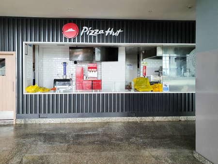 6th June 2020- Netaji Subhas Chandra Bose International Airport, Calcutta, India-Pizza hut airport counter remains closed during covid 19 pandemic lockdown.