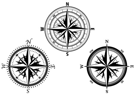 Image material of compass Illustration