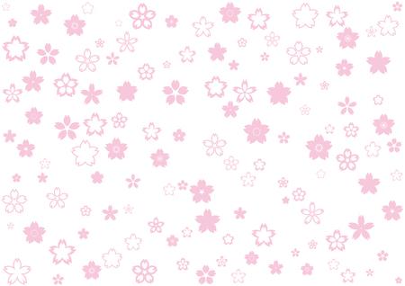 Cherry blossom design material