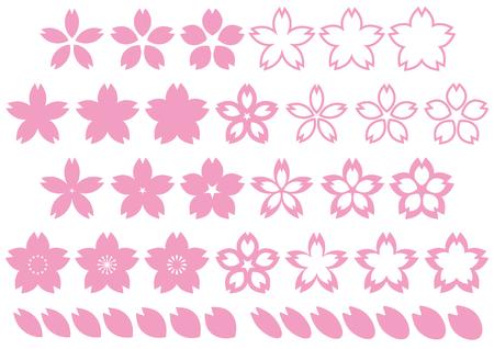 Materiale per il design dei fiori di ciliegio