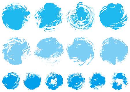 Circle written with brush