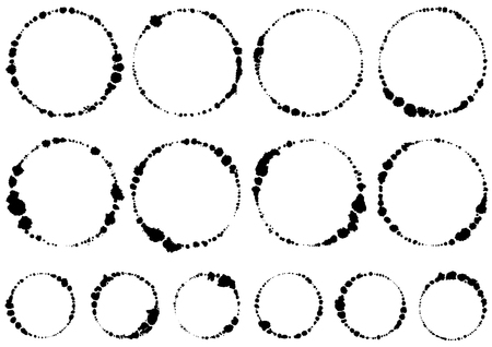 Circle written with brush