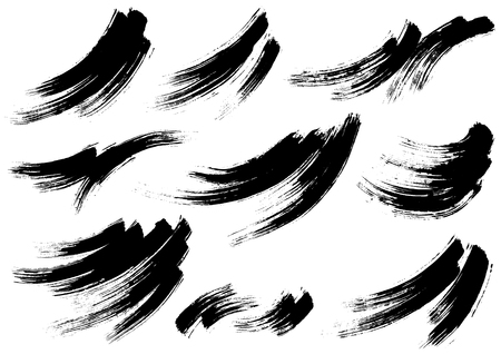 Wave written with brush 일러스트