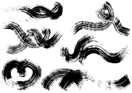 Wave written with brush