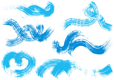 Wave written with brush 向量圖像