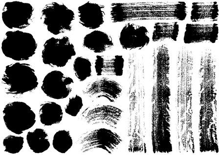 Une image floue écrite avec un pinceau Vecteurs
