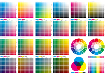 Set of color chart