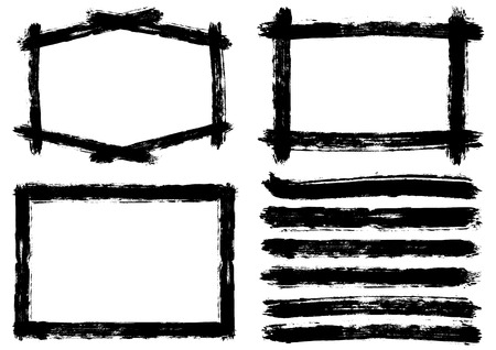 Frames written with brush Çizim