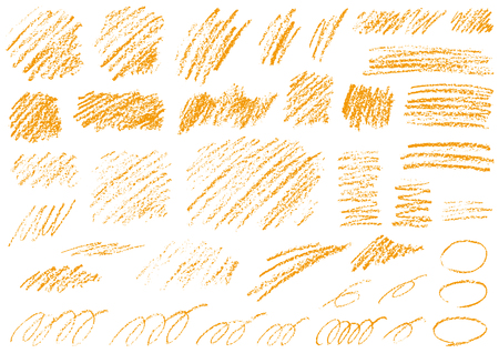 Material collection written in crayons