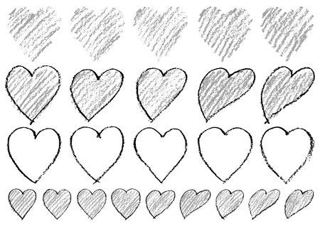 Heart written with crayons