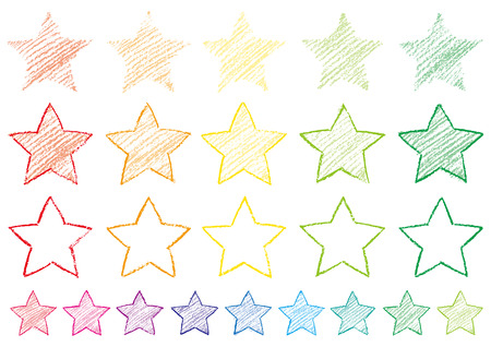 A star written with crayons Illustration