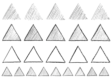 Triangle written with crayons