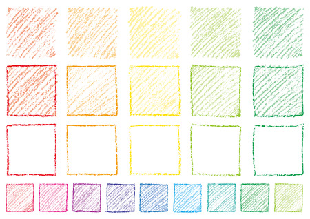 Square written with crayons
