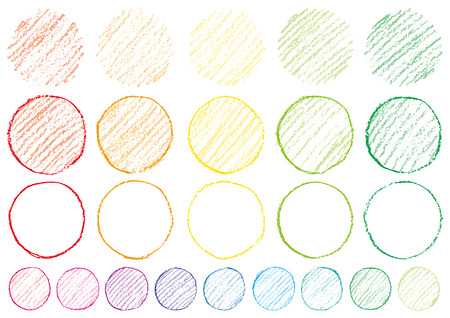Circle written with crayons