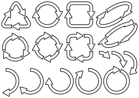 Materiale di riciclaggio e frecce Vettoriali