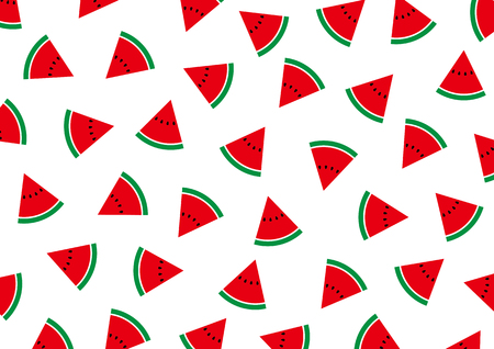 Background material illustration of watermelon  イラスト・ベクター素材