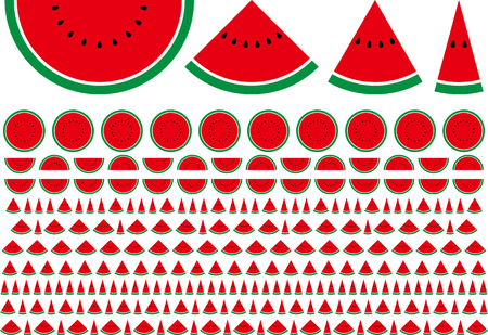 Design material of simplified watermelon  イラスト・ベクター素材