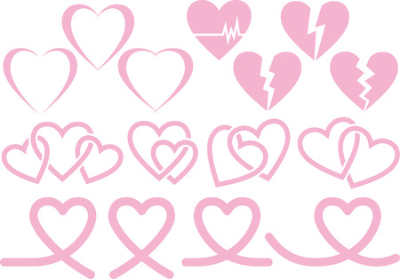 Image material collection of heart