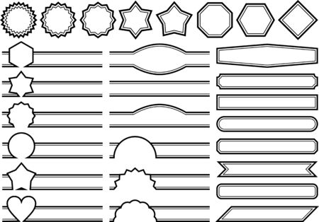 Material set of decorative line