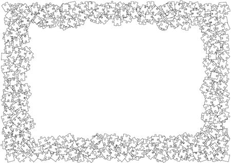 Jigsaw puzzle background design material