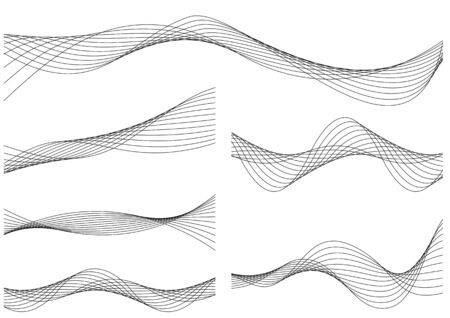 Line material of wave image