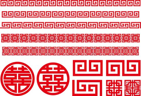 Frame material set of Chinese image Фото со стока - 127041925