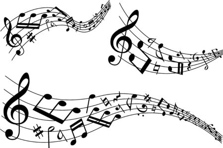 Image material collection of musical notes Иллюстрация