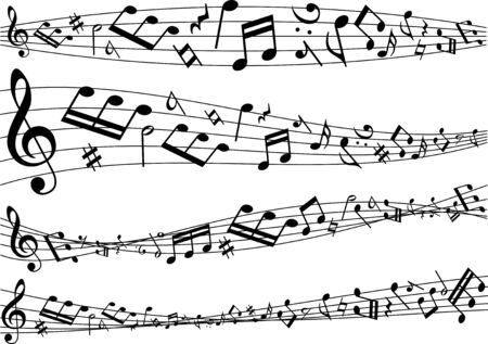 Image material collection of musical notes Фото со стока - 127900226