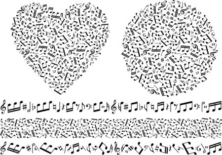 Image material collection of musical notes Фото со стока - 127900229