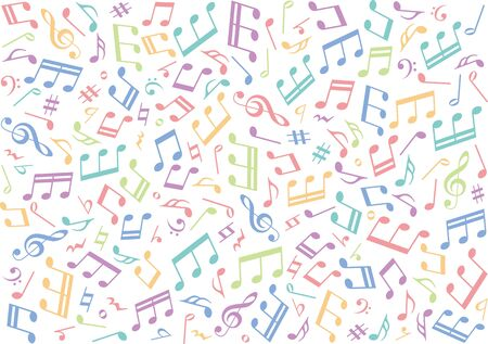 Musical note background image material Çizim