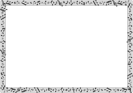 Image material collection of musical notes Фото со стока - 127900244