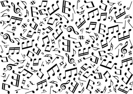 Musical note background image material Фото со стока - 127900245