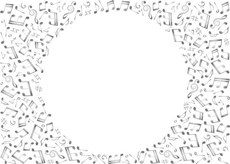 Musical note background image material Иллюстрация