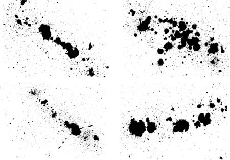 Image of ink splash written with ink 일러스트