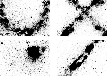 Image of ink splash written with ink Ilustração