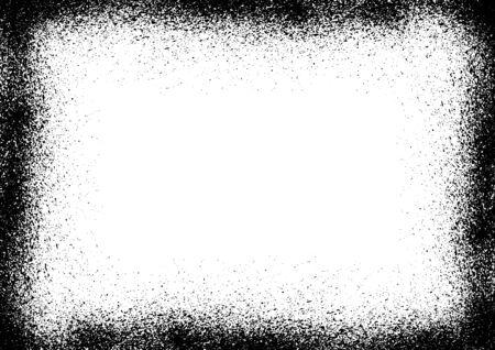 Image frame of ink splashed with ink