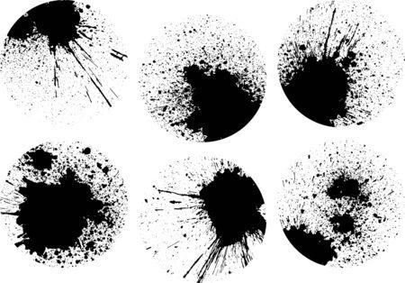 Ink splash image material set