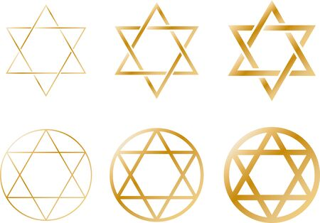 Six-pointed star image material set