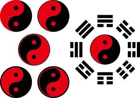 Yin Yang image material set
