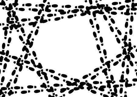 Footprint image frame material