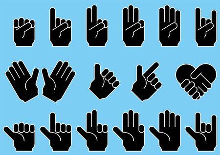 Collection de matériel de vecteur d'image de doigt