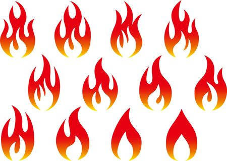 Fire image vector material collection