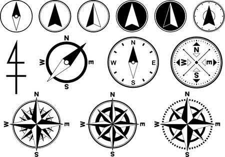 Collection of compass image materials